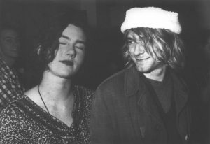 Tobi Vail and Kurt Cobain