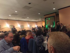 Richard Keatley addresses Democrats in the 6th District
