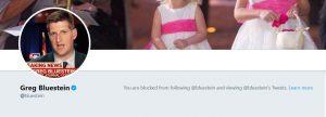 Doug Bremner blocked on twitter by Bluestein