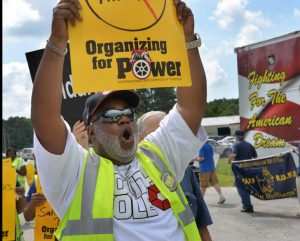 Savannah bus drivers demand their unemployment insurance rights.