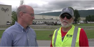Workers locked out of Bull Moose Pipe plant talking to candidate for Georgia Labor Commissioner Richard Keatley